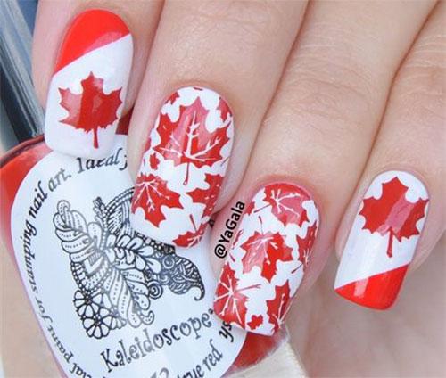 15-Canada-Day-Nails-Art-Designs-Ideas-2017-16