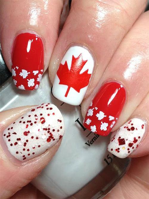 15-Canada-Day-Nails-Art-Designs-Ideas-2017-3
