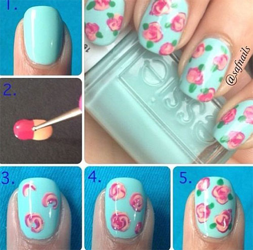 25-Easy-Simple-Spring-Nails-Art-Tutorials-For-Beginners-2017-11