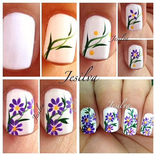 25-Easy-Simple-Spring-Nails-Art-Tutorials-For-Beginners-2017-13