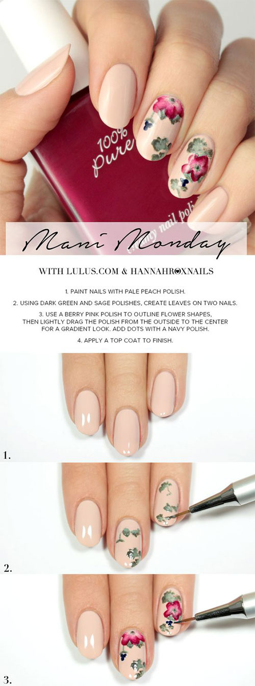 25-Easy-Simple-Spring-Nails-Art-Tutorials-For-Beginners-2017-18