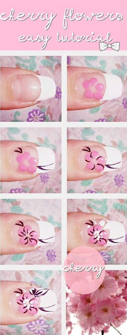 25-Easy-Simple-Spring-Nails-Art-Tutorials-For-Beginners-2017-23