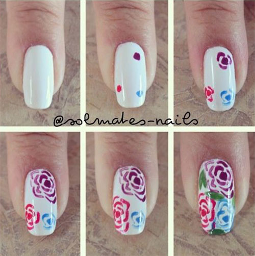 25-Easy-Simple-Spring-Nails-Art-Tutorials-For-Beginners-2017-4