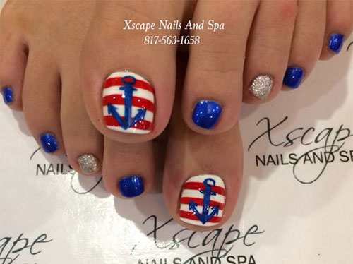 4th of july toe nails art designs ideas 2017 fabulous nail art 4th of july toe nails art prinsesfo Image collections