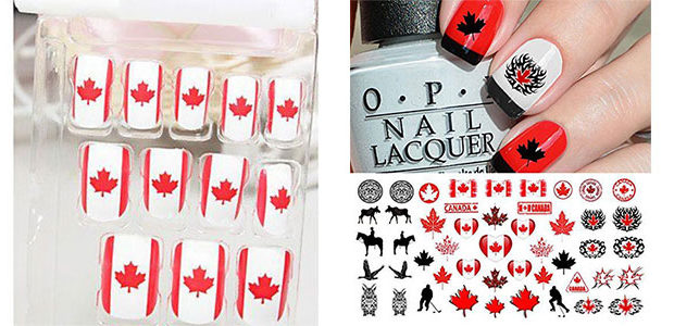 Canada Day Nails Stickers & Decals 2017