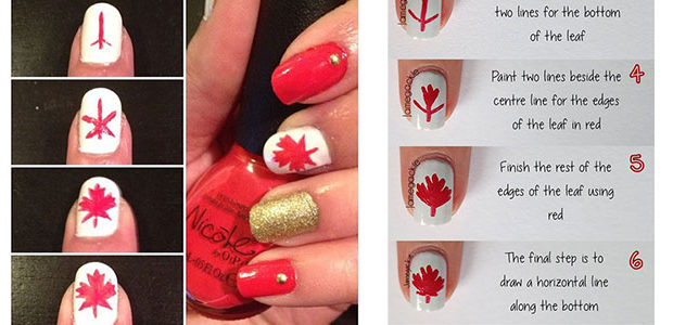 Easy Step By Step Canada Nails Tutorials For Beginners 2017