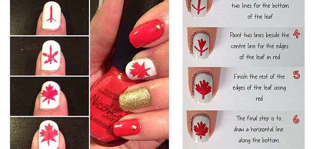Easy-Step-By-Step-Canada-Nails-Tutorials-For-Beginners-2017-F