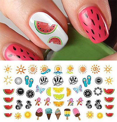 10 Summer Nails Art Decals Stickers 2017 Fabulous Nail Art Designs
