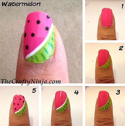 12-Easy-Summer-Nail-Art-Tutorials-For-Beginners-2017-2