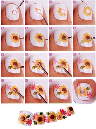 12-Easy-Summer-Nail-Art-Tutorials-For-Beginners-2017-4