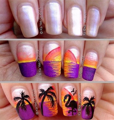 12-Easy-Summer-Nail-Art-Tutorials-For-Beginners-2017-6