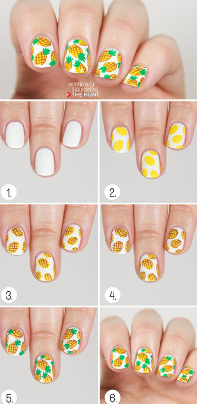 12-Easy-Summer-Nail-Art-Tutorials-For-Beginners-2017-7