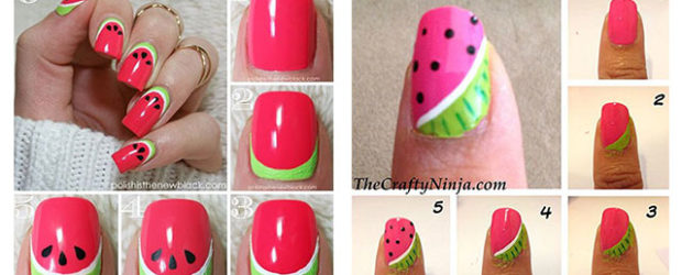 12-Easy-Summer-Nail-Art-Tutorials-For-Beginners-2017-F