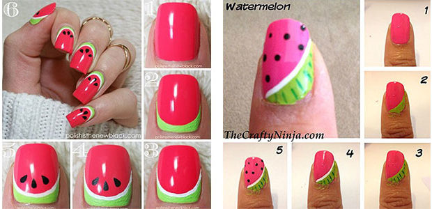 12+ Easy Summer Nail Art Tutorials For Beginners 2017