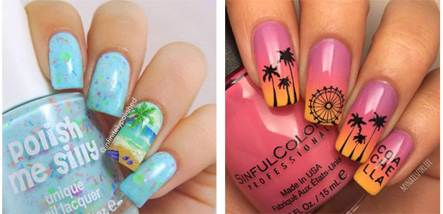 12+ Summer Gel Nail Art Designs & Ideas 2017