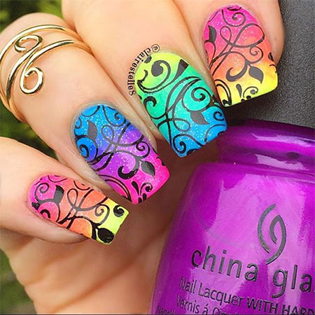 15 Neon Summer Nails Art Designs & Ideas 2017 | Fabulous Nail Art ...