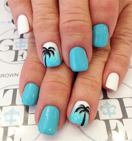 15-Simple-Easy-Summer-Nails-Art-Designs-Ideas- - 15+ Simple & Easy Summer Nails Art Designs & Ideas 2017 Fabulous