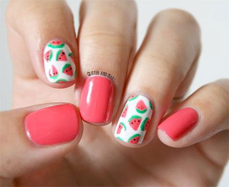 15 simple  easy summer nails art designs  ideas 2017