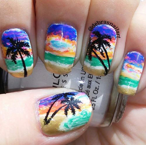 15-Summer-Beach-Nails-Art-Designs-Ideas-2017-7