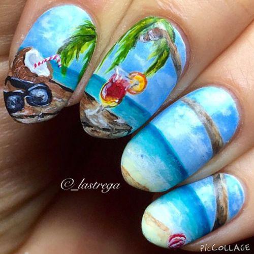Summer 2017 Nail Designs: 15+ Summer Beach Nails Art Designs & Ideas 2017