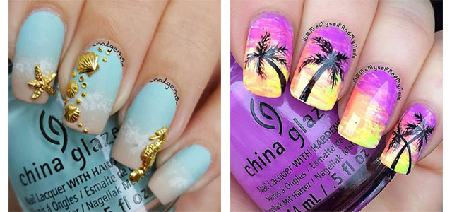 15+ Summer Beach Nails Art Designs & Ideas 2017 | Fabulous Nail Art Designs - 15+ Summer Beach Nails Art Designs & Ideas 2017 Fabulous Nail Art