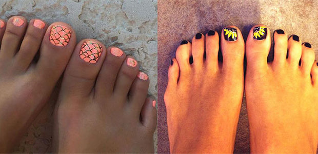 Summer Toe Nails Art Designs & Ideas 2017