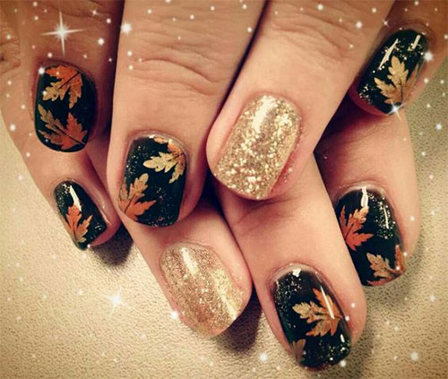 15 Autumn Acrylic Nail Art Designs Ideas 2017 Fall Nails