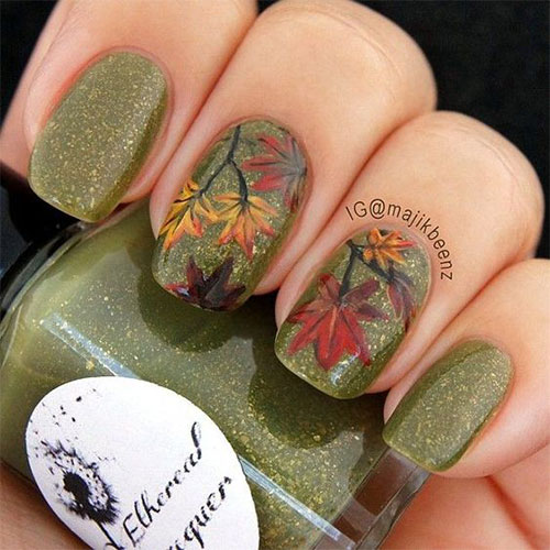 15 autumn acrylic nail art designs amp ideas 2017 fall