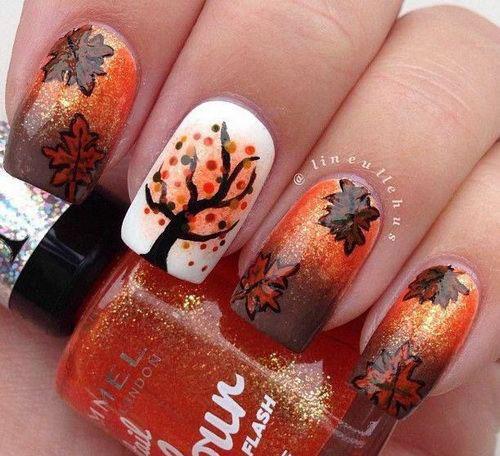 15 Autumn Acrylic Nail Art Designs \u0026 Ideas 2017 / Fall Nails