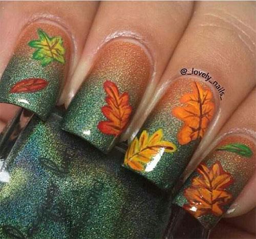 15-Autumn-Acrylic-Nail-Art-Designs-Ideas-2017- - 15 Autumn Acrylic Nail Art Designs & Ideas 2017 / Fall Nails