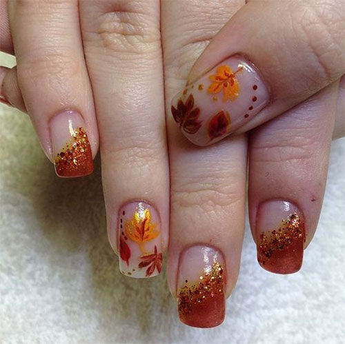 15 Autumn Gel Nail Art Designs Ideas 2017 Fall Nails Fabulous