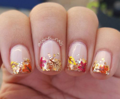 15 autumn gel nail art designs ideas 2017 - Gel Nail Design Ideas