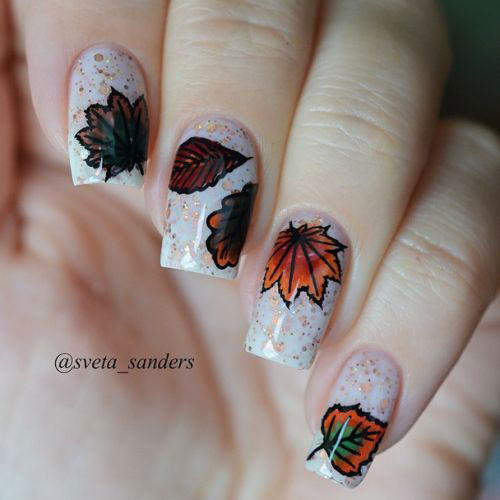15-Autumn-Gel-Nail-Art-Designs-Ideas-2017- - 15+ Autumn Gel Nail Art Designs & Ideas 2017 Fall Nails