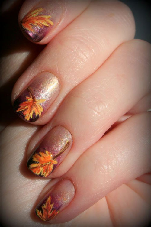 15 Easy Fall Autumn Nails Art Designs Amp Ideas 2017 Fabulous Nail Art Designs