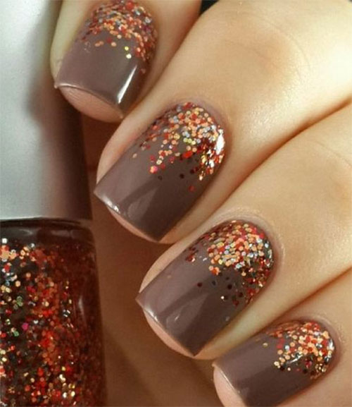 Simple Elegant Fall Nail Designs: 15 Easy Fall / Autumn Nails Art Designs & Ideas 2017