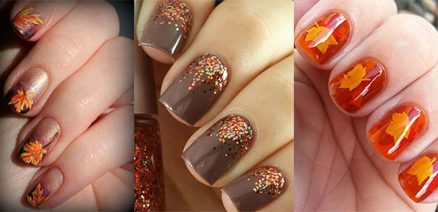 15 Easy Fall / Autumn Nails Art Designs & Ideas 2017