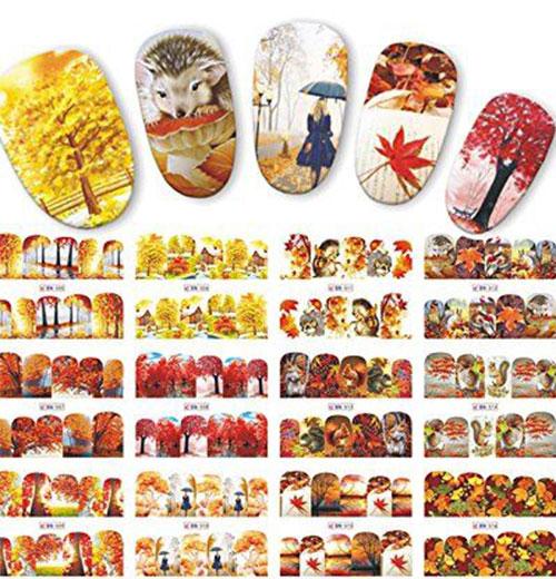 Autumn-Nail-Art-Stickers-Decals-2017-3