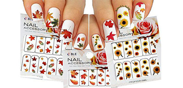 Autumn Nail Art Stickers & Decals 2017