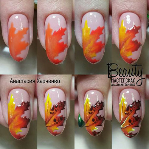 Autumn-Nail-Art-Tutorials-For-Beginners-2017-1