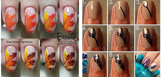 Easy Autumn Nail Art Tutorials For Beginners 2017
