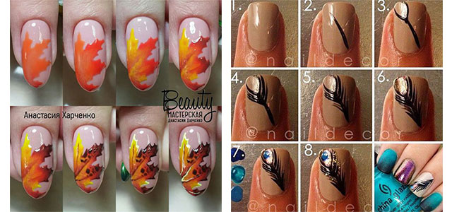 Autumn-Nail-Art-Tutorials-For-Beginners-2017-F