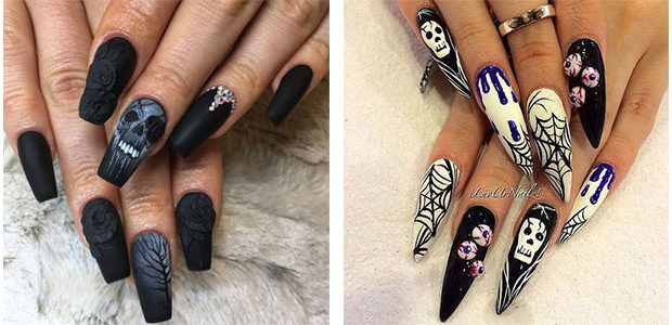 15+ Amazing 3d Halloween Nails Art Designs & Ideas 2017
