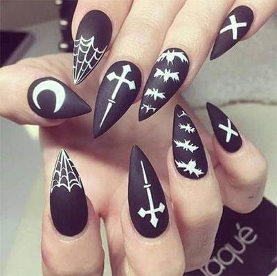 15-Black-White-Red-Halloween-Nails-Art-Designs-Ideas-2017-16