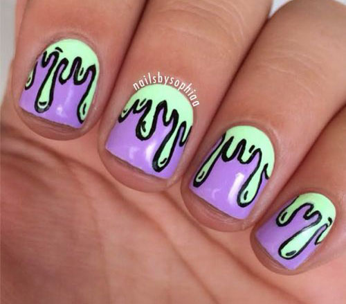 15+ Easy & Simple Halloween Nails Art Designs & Ideas 2017