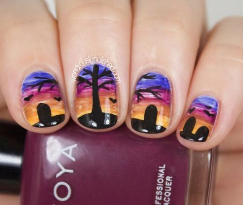15-Easy-Simple-Halloween-Nails-Art-Designs-Ideas-2017-8