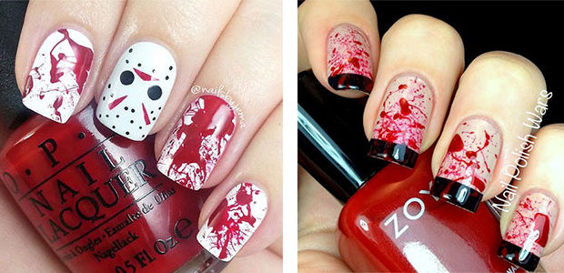 15 Halloween Blood Nails Art Designs & Ideas 2017