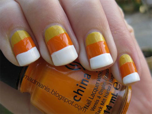 15-Halloween-Candy-Corn-Nails-Art-Designs-Ideas-2017-14