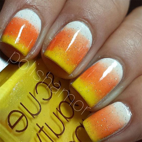 15+ Halloween Candy Corn Nails Art Designs & Ideas 2017 ...