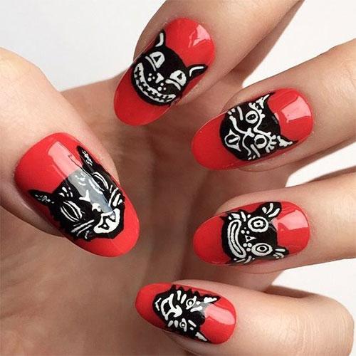 15-Halloween-Cat-Nails-Art-Designs-Ideas-2017-10