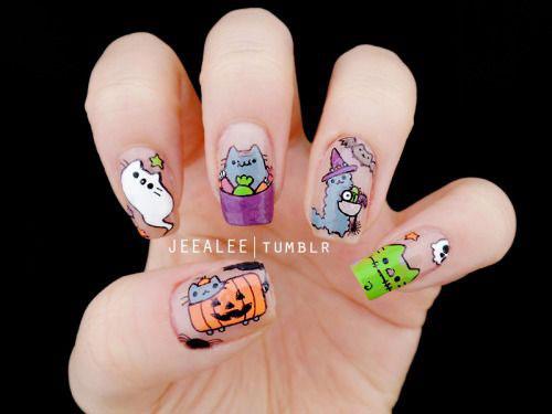 15-Halloween-Cat-Nails-Art-Designs-Ideas-2017-12